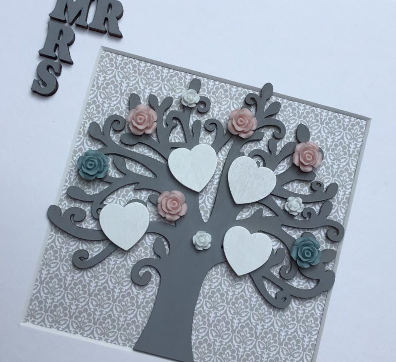 Wooden Tree frame, Family gift, wedding gift, mr and mrs, hand painted