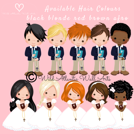 Communion Confirmation boy/girl Hair colour