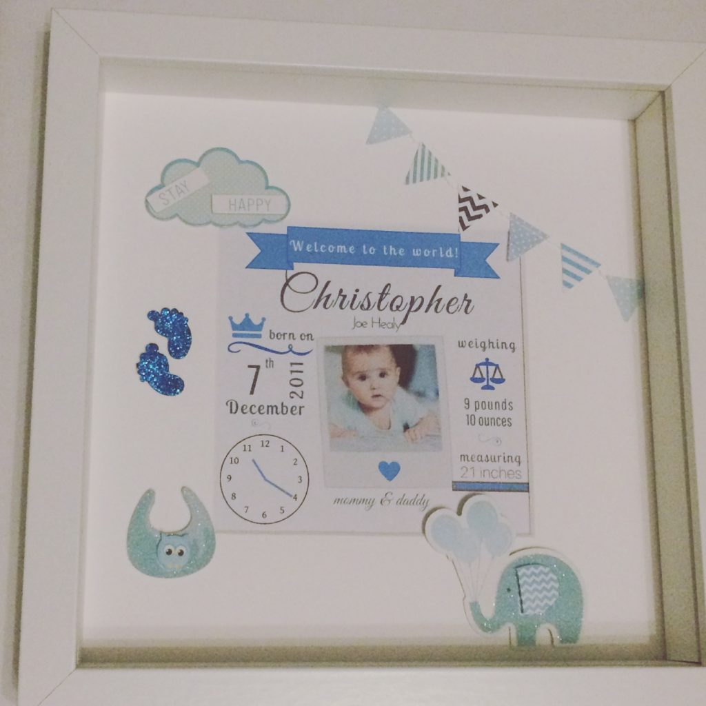New Baby Decorated Frame
