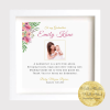 Lovely personalised Godmother or Godfather Thank you frame makes a unique keepsake to thank the Godmother for being part of the special day. Christening Personalised Frame. Thank you to be my godmother godfather