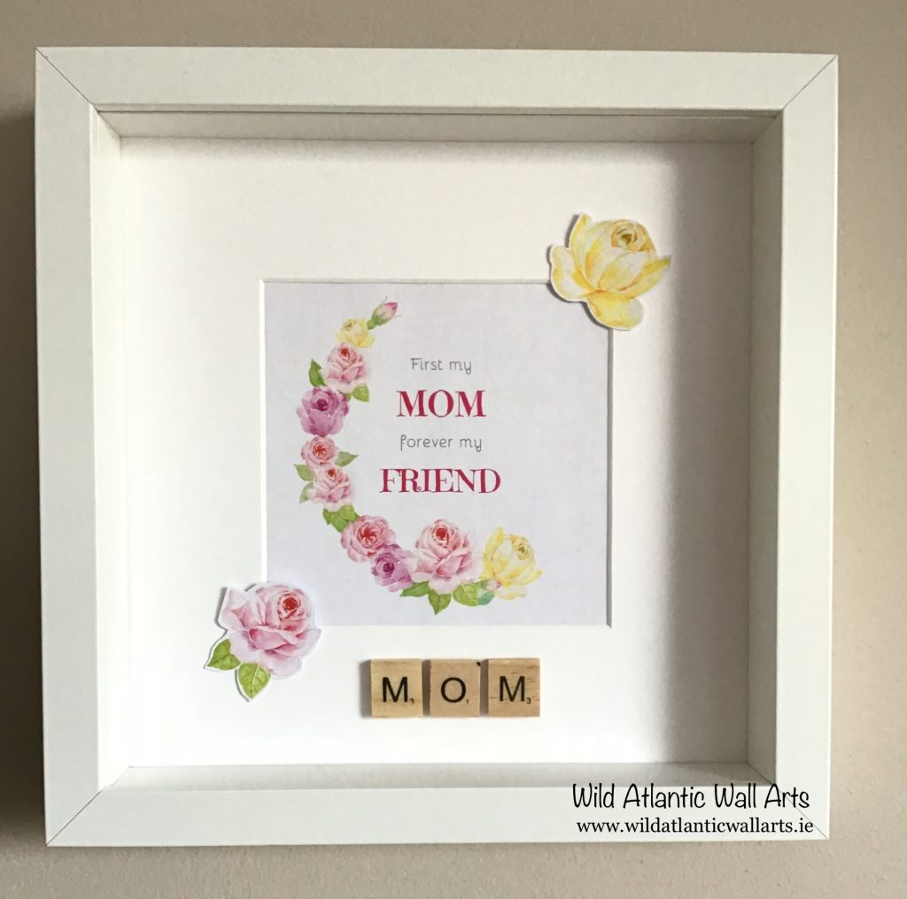 First My Mom forever my friend mother's day Frame