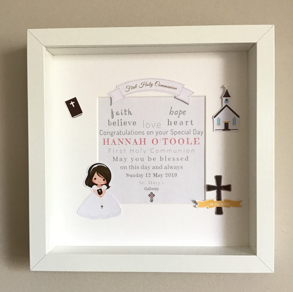 Holy Communion Girl Personalised Holy Communion or Confirmation Frame