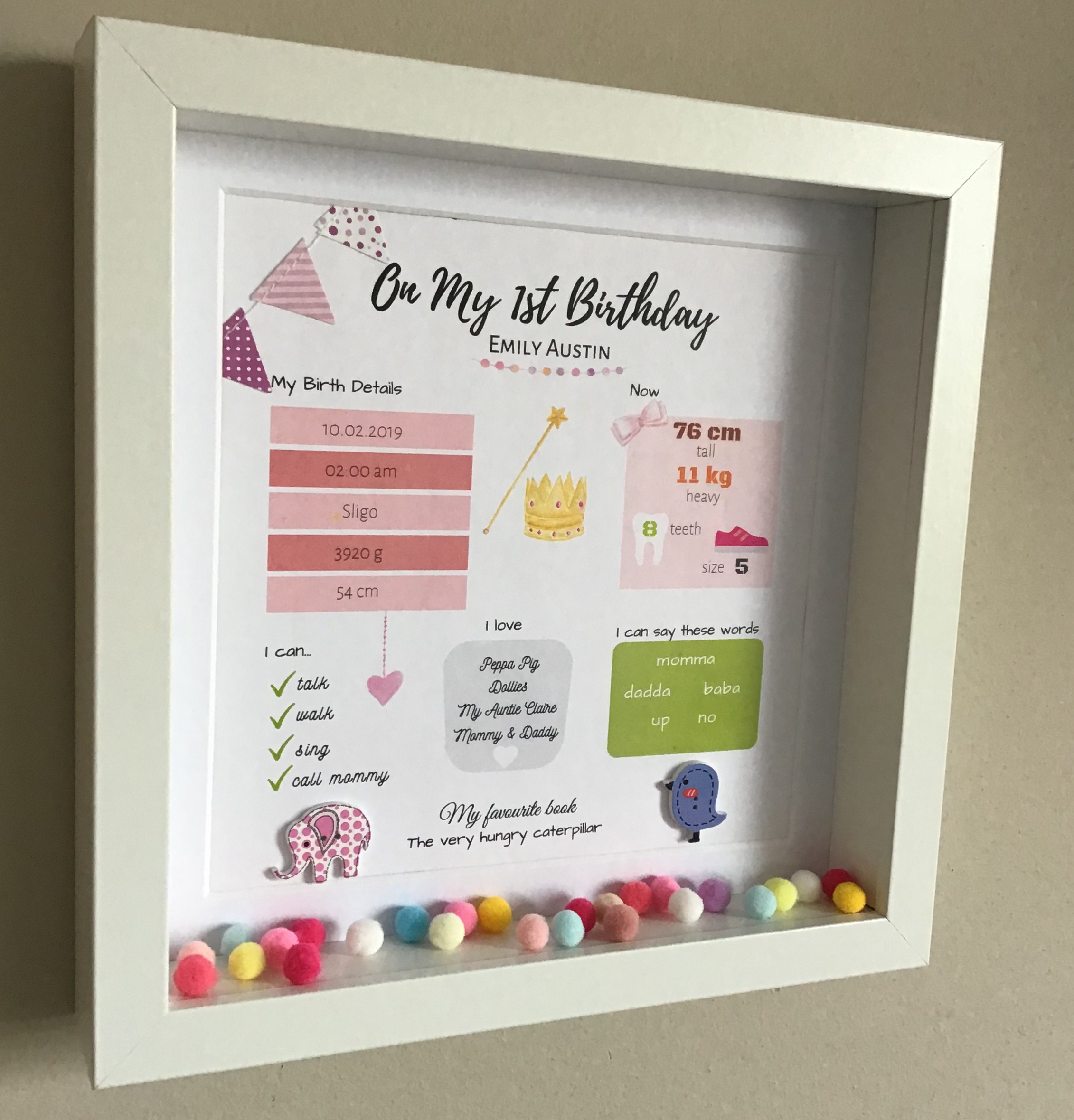 Birthday Gift First Idea Personalised Frame