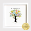 Personalised Family Tree Print Frame - Beautiful Print Framed family gift Mother's Day Father, New Home, new family, team, colleagues, anniversary