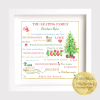 Personalised Christmas family rules framed print. archival quality print will last for a lifetime. Christmas tree, mince pie, mulled wine, carol singing, Christmas jumpers and all. Make your very own Christmas family rules with Wild Atlantic Wall Arts.