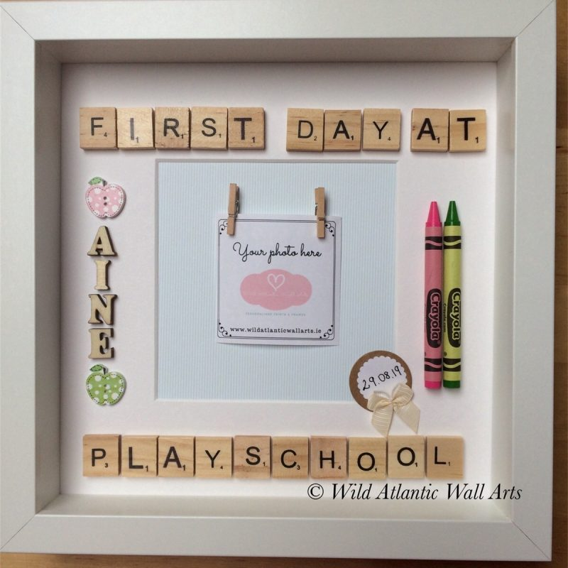 First Day of School Scrabble Frame