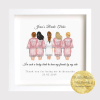 Beautiful bridesmaids illustration. I couldn't say I do without you. wedding, hen party, personalised bride and bridesmaids print framed. Made of Honour. Bridal Party, Bride Tribe
