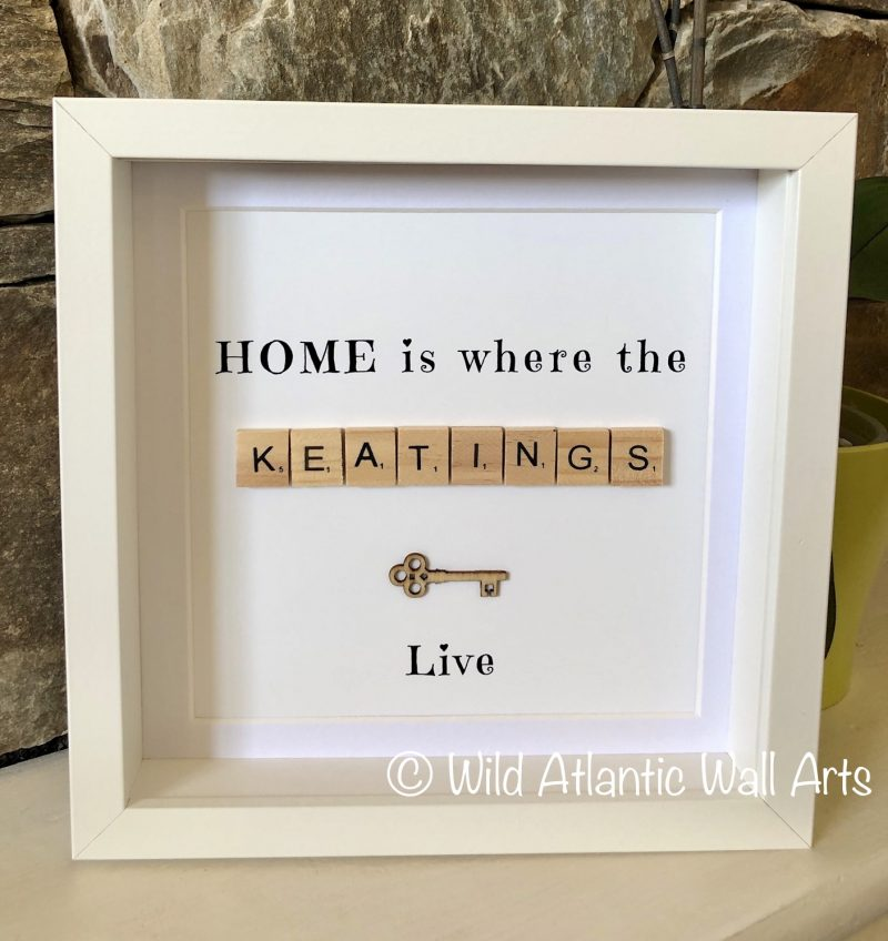 This lovely Home is where the `family' lives Frame, personalised to make a wonderful piece of art for your home or as a thoughtful gift!