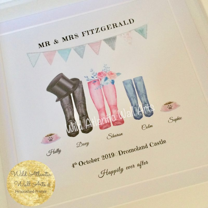 Personalised Wedding Boots