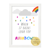 when it rains, look for rainbows archival print, room decoration, Oscar Wilde. wild Atlantic