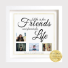 Life is for friends and friends for life personalised archival print framed and ready to gift. Send a Gift... surprise someone and show you care. Thinking of you gift