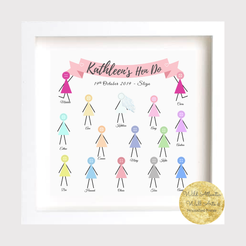 A unique, personalised gift to give as a thank you gift and keepsake to your Bridesmaids or from the Bridesmaids to the Bride.