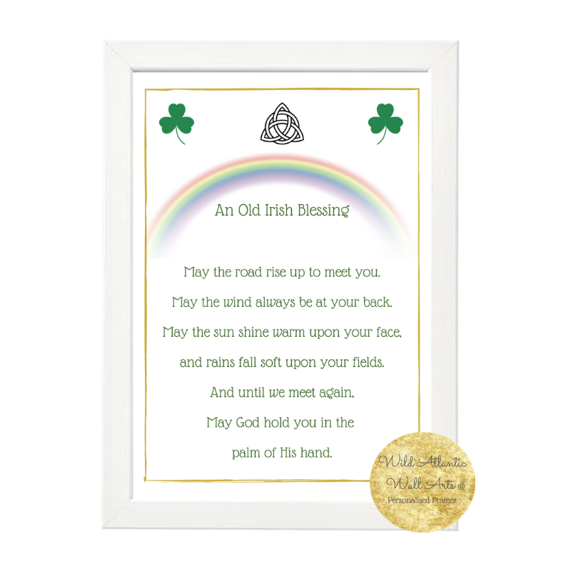 An Old Irish Blessing archival Print