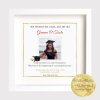 Graduation Gift. Keepsake. Wonde3rful way to treasure the graduation portrait. Personalised Archival Print framed in the west of Ireland. Wild Atlantic