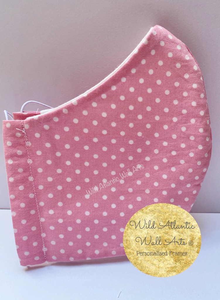 Where to buy cloth face mask in Ireland? 100% cotton reusable eco face mask, reusable mask, cloth mask. eco friendly, reusable, washable, help to save lives. Hand Made in Ireland. Buy 100% cotton face mask online. delivery in Ireland. Reusable Cotton Face Masks