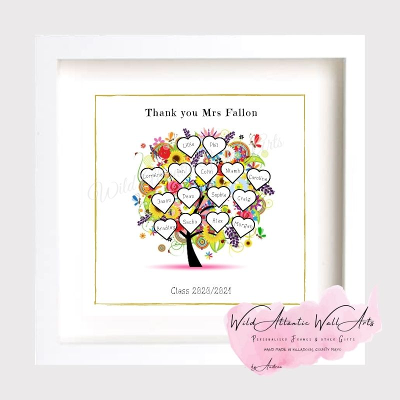 Thank You Teacher Tree Frame