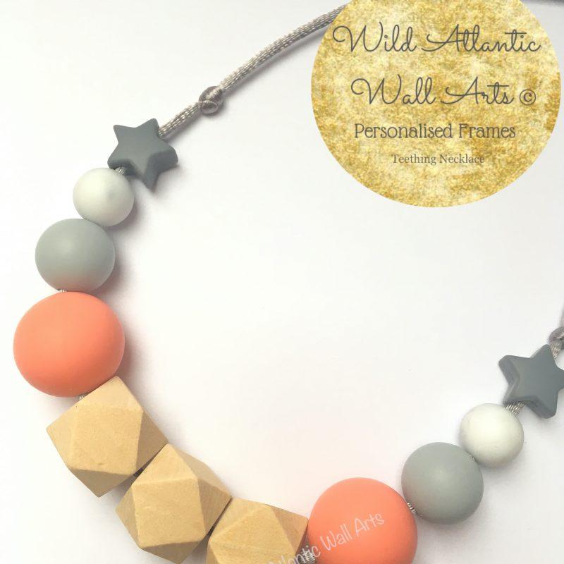 Teething Necklace | Jewellery | Peach