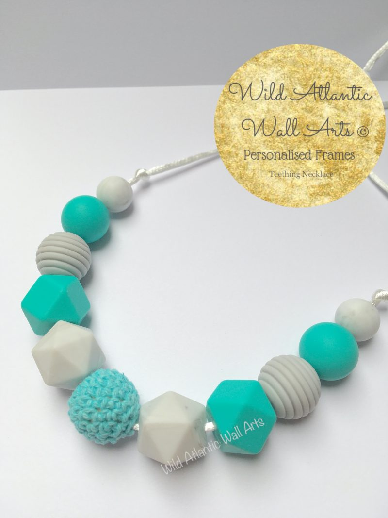 Is your baby like to grab on things while they are being carried? Or grasp during nursing? The Silicone Teething Necklace is designed to be worn by moms keeping babies hands busy, helping to stimulate senses and soothe sore gums. BPA free silicon teether