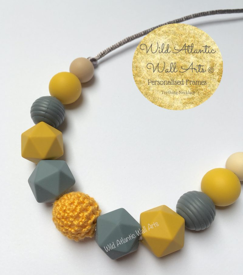 Is your baby like to grab on things while they are being carried? Or grasp during nursing? The Silicone Teething Necklace is designed to be worn by moms keeping babies hands busy, helping to stimulate senses and soothe sore gums. Silicon Teether. Teething necklace. baby teething. baby gift. baby and mum gift idea. Ireland