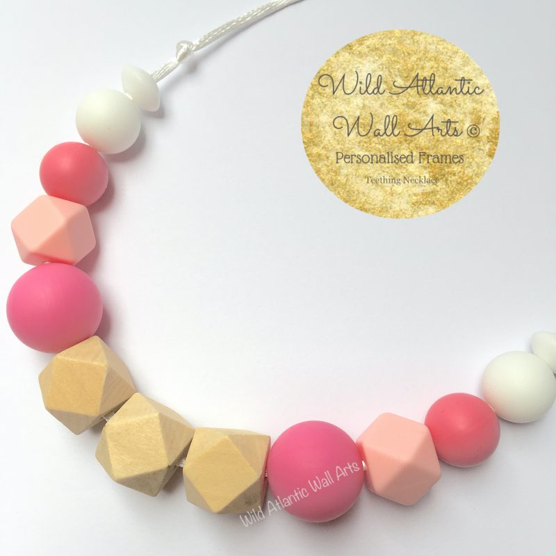 Teething Necklace | Jewellery | Pink