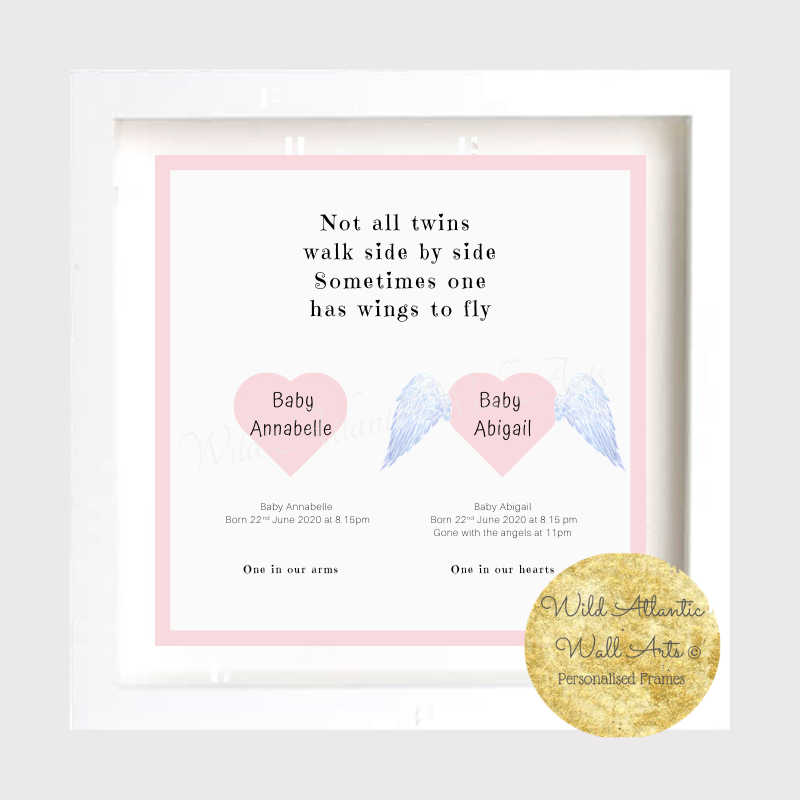 Baby Remembrance Frame | Twins