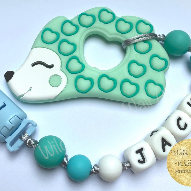 Personalised Baby Teether | Soother Clip
