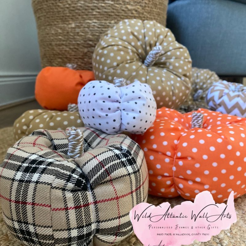 Handmade Fabric Pumpkins (set of 3)