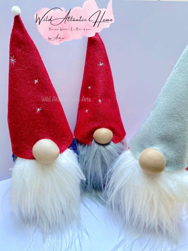 Christmas Gnome, Handmade gnomes, handmade Christmas decoration. small irish business, shop local, Ireland. Christmas decoration