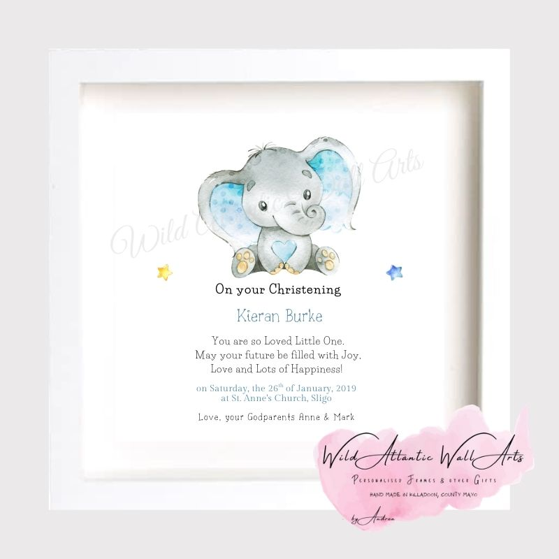 Christening Gift Frame, Baby boy, baby girl. Christening Photo Frame, Personalised Christening Gift for the new baby. Unique, hand-made gift, frame to treasure forever. Ten little Toes, ten little fingers, the sweetest smile and a cute little nose. Christening Frame to treasure the big day of the Christening. Godparents, godmother, godfather gift