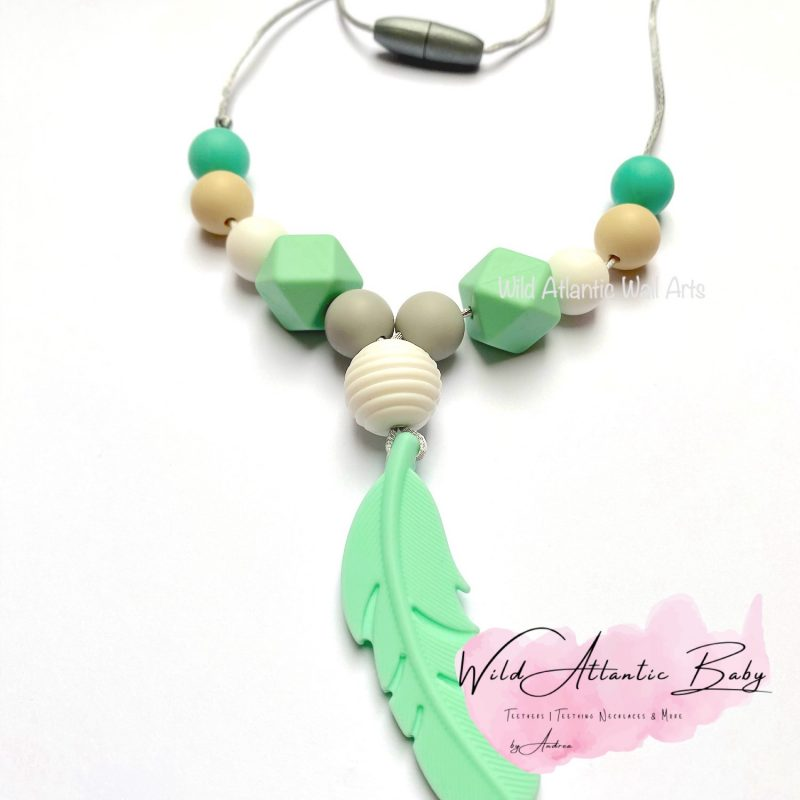 Feather Teething | Feeding Necklace