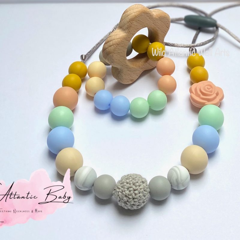 Silicon Teething Necklace & Teether Set