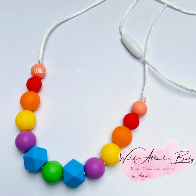 Rainbow Teething | Nursing Necklace
